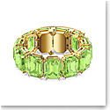 Swarovski Millenia Bracelet, Octagon Cut Crystals, Green, Gold-Tone Plated