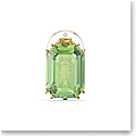 Swarovski Millenia Clip Earring Single, Green, Gold-Tone Plated