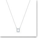 Swarovski Millenia Necklace, Square Swarovski Zirconia, White, Rhodium Plated