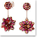 Swarovski Curiosa Drop Earrings, Geometric Crystals, Pink, Rose-Gold Tone Plated, Pair