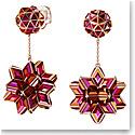Swarovski Curiosa Drop Earrings, Geometric Crystals, Pink, Rose-Gold Tone Plated, Pair