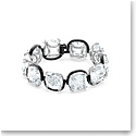 Swarovski Harmonia Bracelet, Cushion Cut Crystals, White, Mixed Metal Finish