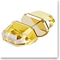 Swarovski Lucent Stud Earring Single, Yellow, Gold-Tone Plated