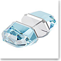 Swarovski Lucent Stud Earring Single, Blue, Rhodium Plated