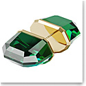 Swarovski Lucent Stud Earring Single, Green, Gold-Tone Plated