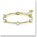 Swarovski Constella Bracelet, White, Gold-Tone Plated