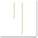 Swarovski Constella Earrings, Asymmetrical, White, Gold-Tone Plated, Set