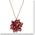 Swarovski Curiosa Pendant, Geometric Crystals, Pink, Rose-Gold Tone Plated