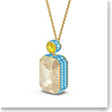 Swarovski Orbita Necklace, Octagon Cut Crystal, Multicolored, Gold-Tone Plated