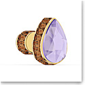 Swarovski Orbita Earring Single, Drop Cut Crystal, Multicolored, Gold-Tone Plated
