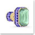Swarovski Orbita Earring Single, Octagon Cut Crystal, Multicolored, Gold-Tone Plated