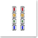 Swarovski Chroma Drop Earrings, Oversized Crystals, Multicolored, Rhodium Plated, Pair