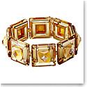 Swarovski Chroma Bracelet, Cushion Cut Crystals, Yellow, Gold-Tone Plated