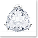 Swarovski Mesmera Clip Earring Single, Triangle Cut Crystal, White, Rhodium Plated