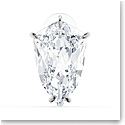 Swarovski Mesmera Earring, Single Trilliant Cut Crystal, White, Rhodium Plated