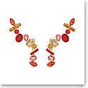 Swarovski Gema Earrings, Multicolored, Gold-Tone Plated, Pair