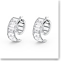 Swarovski Matrix Earrings, White, Rhodium Plated, Pair