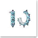 Swarovski Chroma Hoop Earrings, Blue, Rhodium Plated, Pair