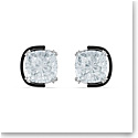Swarovski Harmonia Earrings, Cushion Cut Crystals, White, Mixed Metal Finish, Pair