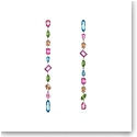 Swarovski Gema Drop Earrings, Extra Long, Multicolored, Rhodium Plated, Pair