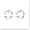 Swarovski Millenia Earrings, Circle, White, Rhodium Plated, Pair