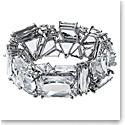 Swarovski Mesmera Bracelet, Oversized Crystals, White, Rhodium Plated