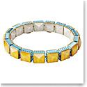 Swarovski Orbita Bracelet, Square Cut Crystal, Multicolored, Gold-Tone Plated
