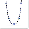 Swarovski Somnia Necklace, Extra Long, Blue, Gold-Tone Plated