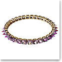 Swarovski Chroma Choker Necklace , Spike Crystals, Purple, Gold-Tone Plated