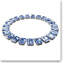 Swarovski Millenia Necklace, Octagon Cut Crystals, Blue, Rhodium Plated