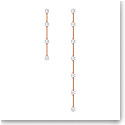 Swarovski Constella Earrings, Asymmetrical, White, Rose-Gold Tone Plated, Set
