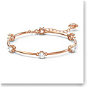 Swarovski Constella Bangle, White, Rose-Gold Tone Plated