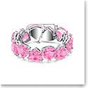 Swarovski Millenia Bracelet, Triangle Cut Crystals, Pink, Rhodium Plated