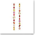 Swarovski Gema Drop Earrings, Extra Long, Multicolored, Gold-Tone Plated, Pair