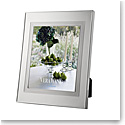 """Vera Wang Wedgwood Silver Plate Blanc Sur Blanc 4x6"""" Picture Frame"""