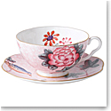 Wedgwood Cuckoo Teacup and Saucer Set Pink