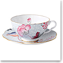 Wedgwood Cuckoo Teacup and Saucer Set Blue