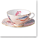 Wedgwood Cuckoo Teacup and Saucer Set Peach