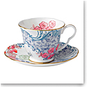 Wedgwood Butterfly Bloom Teacup and Saucer Set Spring Blossom
