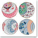 "Wedgwood Butterfly Bloom Tea Plate 8.25"" Set of 4"