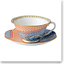 Wedgwood Butterfly Bloom Teacup and Saucer Set Blue Peony