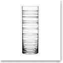 Orrefors Crystal, Graphic Cylinder Crystal Vase