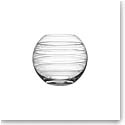 Orrefors Crystal, Graphic Round Crystal Vase, Medium