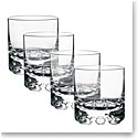 Orrefors Crystal, Erik Crystal Old Fashioned Tumbler Glass, Set of Four