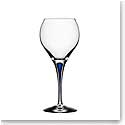 Orrefors Crystal, Intermezzo Blue Sweet Crystal Wine Glass, Single