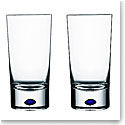 Orrefors Crystal, Intermezzo Blue Tumbler, Pair