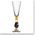 Orrefors Crystal The Sparkling Devil Dark Grey Champagne, Single