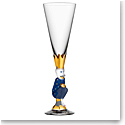 Orrefors Crystal The Sparkling Devil Blue Champagne, Single
