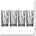Orrefors Crystal, City Crystal Highball, Set of 4