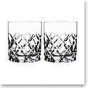 Orrefors Crystal, Sofiero Crystal Old Fashioned Tumbler Glass, Pair
